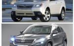 Сравнение Skoda Kodiak и Subaru Forester