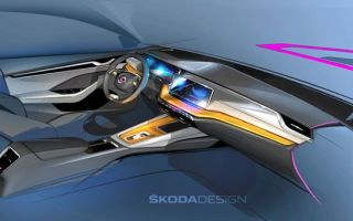 Новая Skoda Octavia — концептуальные эскизы салона автомобиля
