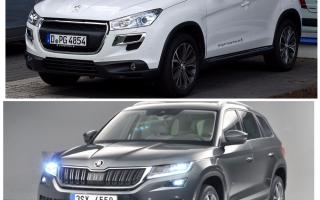 Сравнение Skoda Kodiak и Peugeot 4008