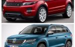 Сравнение Skoda Kodiak и Land Rover Evoque