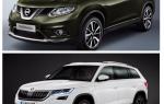 Сравнение Skoda Kodiak и Nissan X-Trail