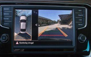 Система кругового обзора 360 на автомобилях Шкода
