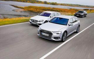 Audi A6 40 TDI против Mercedes E 220 и Volvo V90 D4 – кто круче?