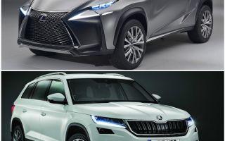Сравнение технических характеристик  SKODA KODIAK и Lexus NX