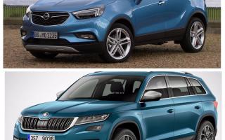 Сравнение Skoda Kodiak и Opel Mokka