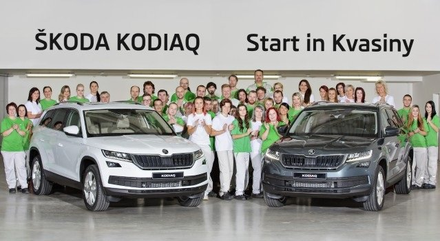 Началось производство кроссовера Skoda Kodiaq в Квасинах
