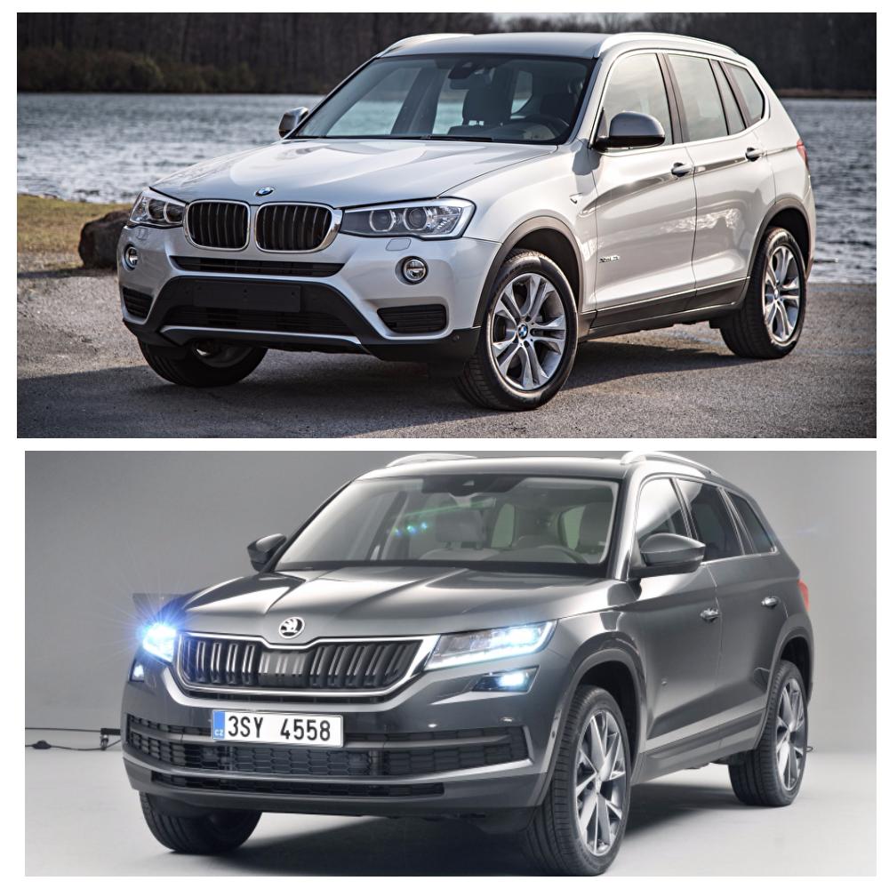 Сравнение Skoda Kodiaq и BMW X3