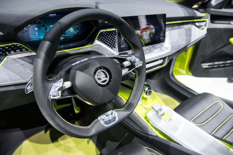 Skoda vision x concept салон руль