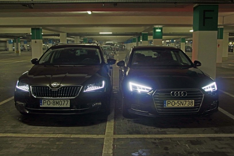 Audi A4 против Skoda Superb L & K