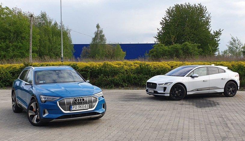 Audi e-tron и Jaguar I-Pace