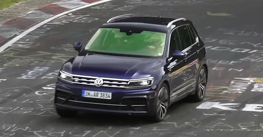 Volkswagen Tiguan R попал в кадр папарацци