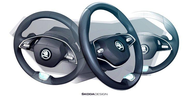 Новая Skoda Octavia - концептуальные эскизы салона автомобиля